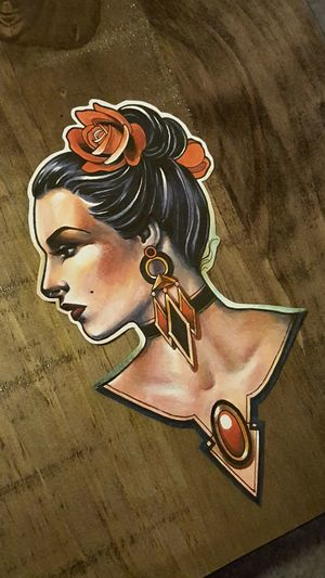 Tattoo Design Sophie Lewis Flt Tattoo Art Deco Lady First Eyeem Photo