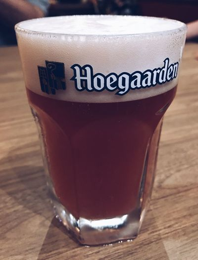 glass of hoegaarden rose Party Relax Hoegaardenrosé Beer Hoegaardenrosee Drink Food And Drink Refreshment Coffee Cup Close-up Table Indoors  Text Frothy Drink Freshness Day