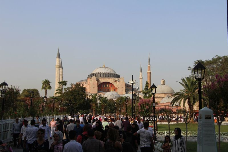 Ayasofya Camii Architecture Group Of People Sky Crowd Built Structure Large Group Of People Tourism Real People Travel Nature
