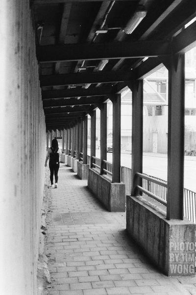 Real People Walking One Person Day Women People Film Tim Wong Hong Kong Outdoors Black And White Nikon Fomapan400