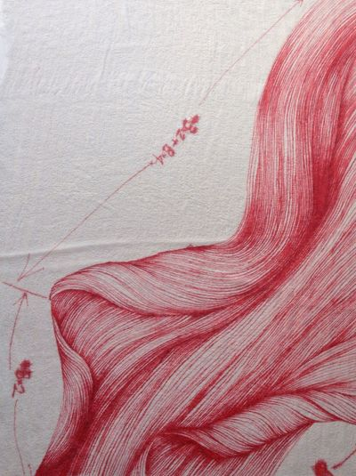 spider lily petal, dye on silk. done. Abstract Art Nature Hello World