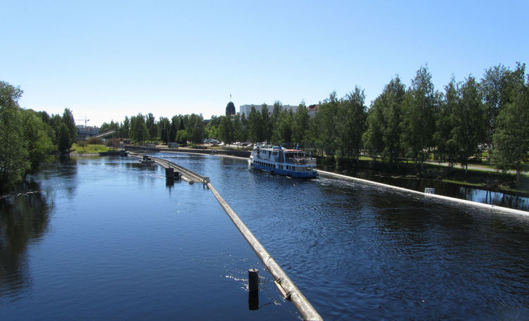 Satumaa cruise. Beauty In Nature Blue Boat Canon Powershot Day Green Color Idyllic Mode Of Transport Nature Outdoors River Sky Summer Vacation Water Feel The Journey Transportation Joensuu Urban Nature Summer2016 Summer Collection
