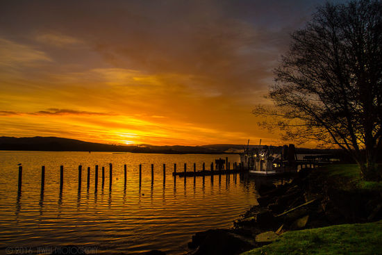 Sunset Reflection Water Beauty In Nature Sky Outdoors Tranquility Nature Dramatic Sky Landscape Canonphotography DSLR Photography Jewell Photography Jeremiah Oregon Pacific Northwest  Coos Bay Photography Bay