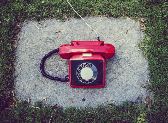 High Angle View Communication Old-fashioned Day Outdoors No People Close-up Telephone Telecommunications Equipment Retro Styled Outdoor Photography Business Finance And Industry Lieblingsteil The Still Life Photographer - 2018 EyeEm Awards