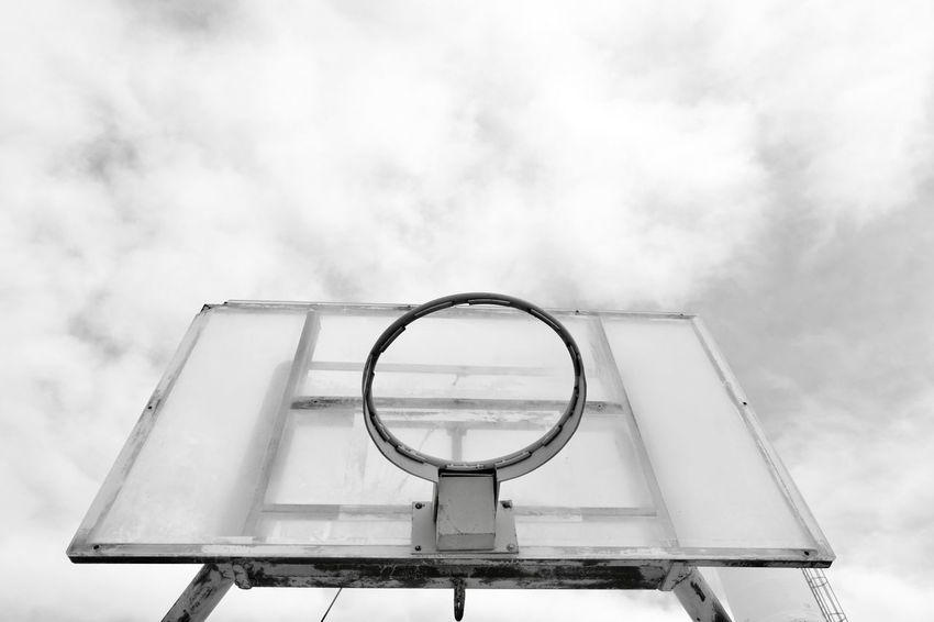 Low Angle View Sky Cloud - Sky No People Day Outdoors Close-up Basketball Desert Negev  Fujifilm_xseries FUJIFILM X-T2 Fujifilm Sport Basket Basketball Low Angle View Alternative Lifestyle Alternative Art Is Everywhere