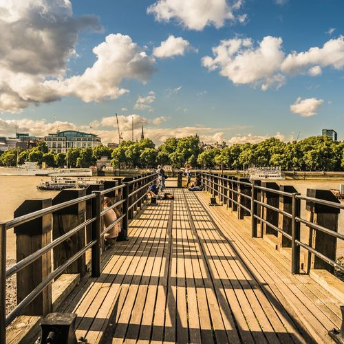london Pier Thames River Travel Photography Travelmemories EyeEm Selects City Beach Pier Wood - Material Sky Cloud - Sky
