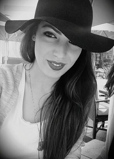 A selfie this time!!Black And White Selfie PortraitHat Chapeau Girl Girl Retro Egypt