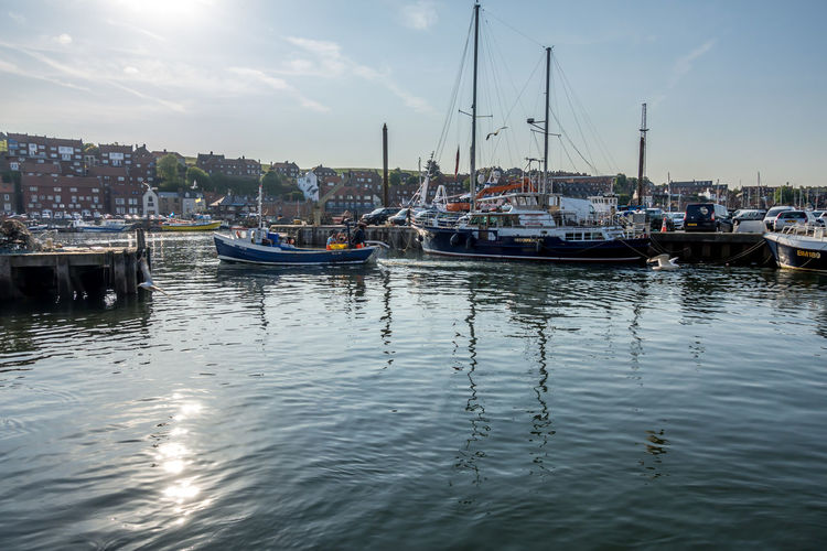 Whitby Whitby View Whitby North Yorkshire North Yorkshire North Yorkshire Coast Yorkshire Seaside Seaside Town Harbor Sea Sailboat Waterfront Moored Nautical Vessel Water Yacht Marina Outdoors Port Cloud - Sky No People Reflection Mast Anchored Sky
