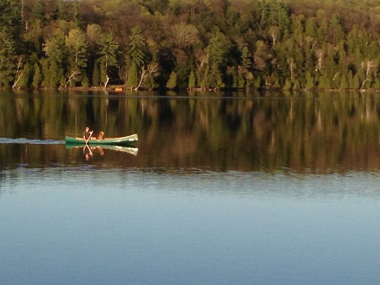 Canoeing Lake Mode Of Transport Nature Outdoors Tranquil Scene Tranquility Water Waterfront