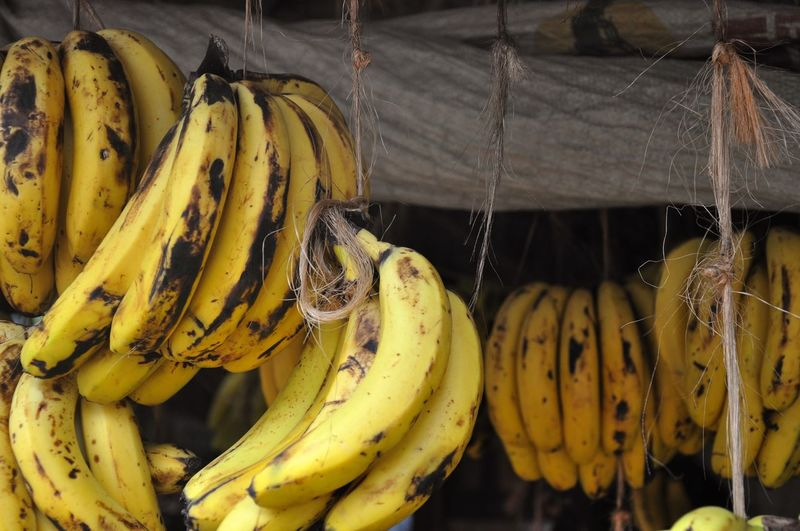Hung Market Banana Bunch Food Stories Fruit Market Stall No People Outdoors Yellow