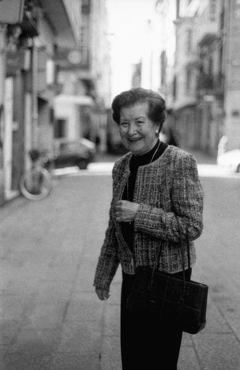 Nikon FE 35mm Film Black And White My Nana Family Old Woman Street Style Portrait Ferrol  Monochrome Photography