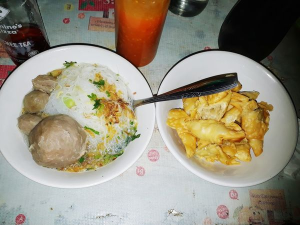 Bakso Kampung maknyooss...🍜 Food And Drink Plate Food Indoors  Table Freshness Serving Size No People Directly Above Ready-to-eat Healthy Eating Close-up Day Indonesianculinary Indonesianfoodstreet Yummy Food Bakso Bandung, West Java