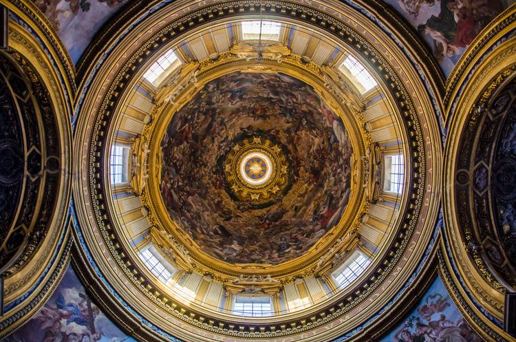 Architecture Church Interior Views Loyola  Roma Rome Statue Architecture Barocco Church Interior Holy Indoors  Sant'ignazio Da Loyola