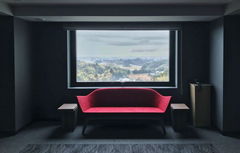 Hotel Views Hotel Window Indoors  Home Interior Living Room Sofa No People Day Red