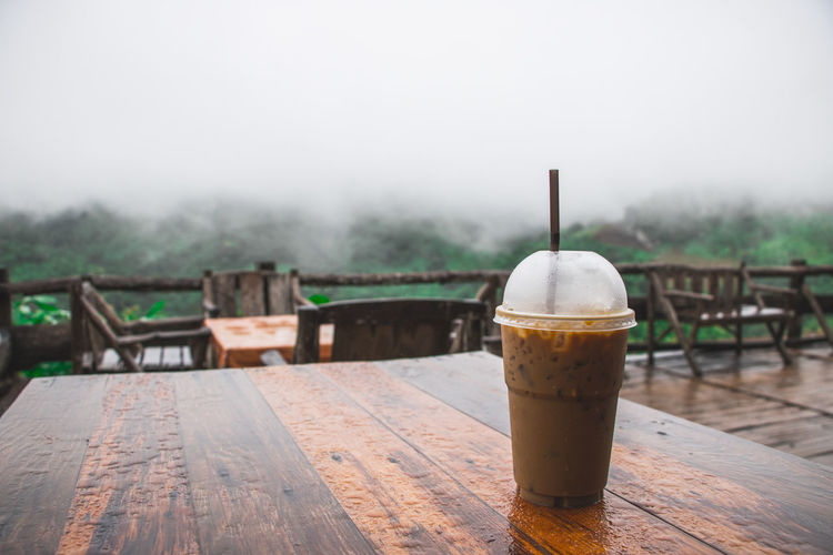 Green Color Nature Coffee - Drink Cup Fog Mountain No People Wood - Material