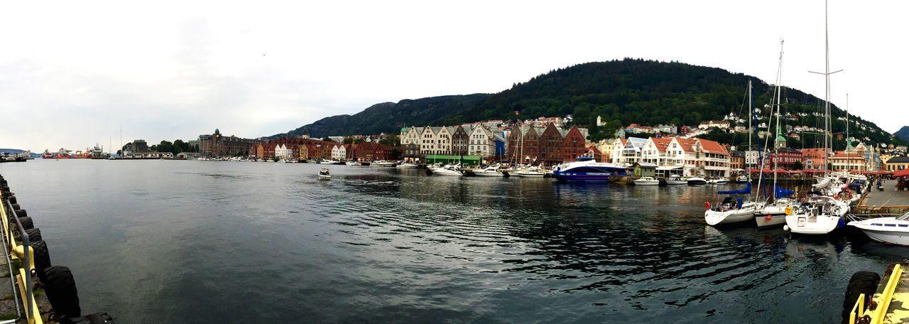Boats in port in Bergen Norway