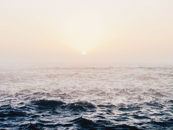 Rippled Sea Against Sky