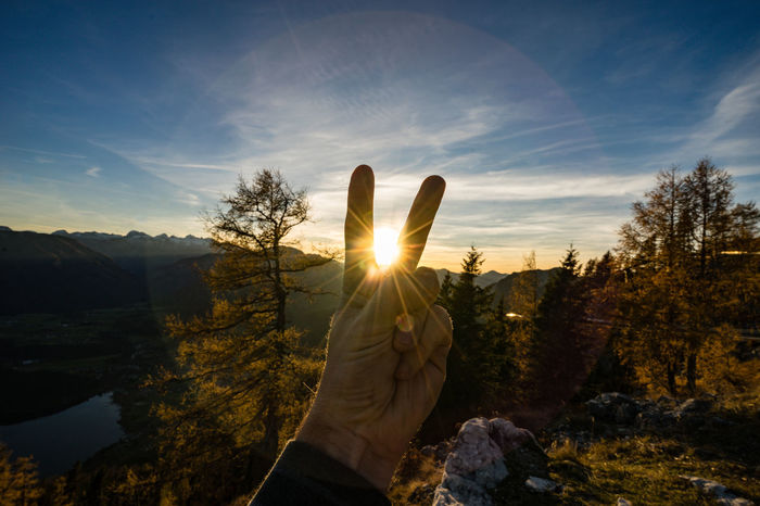 greetings to sunset Altaussee Beauty In Nature EyeEm Best Shots EyeEm Gallery EyeEm Nature Lover Lens Flare Sunest Sunlight V TCPM Perspectives On Nature