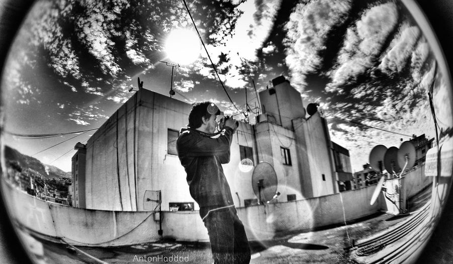self timer & fisheye = fun Black And White NEM Clouds WeatherPro: Your Perfect Weather Shot Bnw_friday_challenge Shootermag EyeEm Best Shots AMPt - Escape AMPt Community Streetphotography Cloud_collection