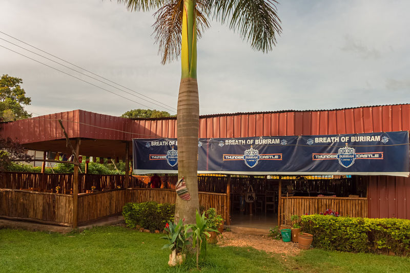 a thai restaurant in Entebbe Thai Restaurant Uganda  Africa Architecture Building Exterior Built Structure Cloud - Sky Day Entebbe Grass Growth Nature No People Outdoors Palm Tree Restaurant Sky Tree