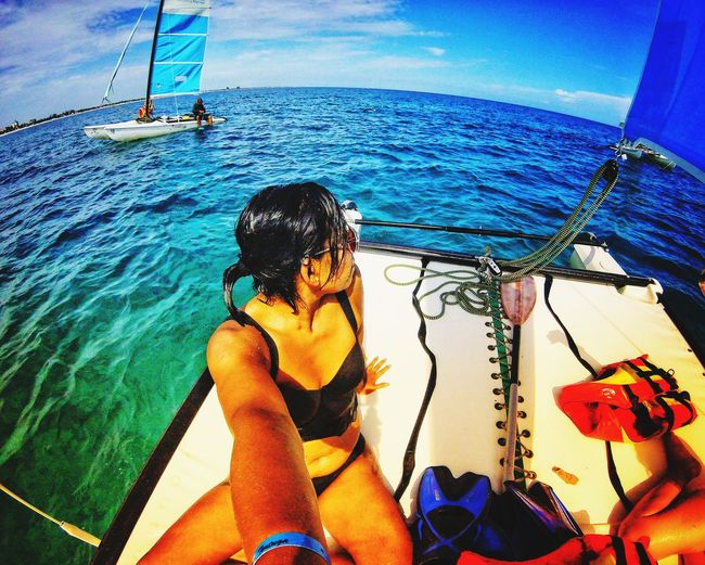 Selfie en Varadero HBD 31 #VaraderoCuba Water Sea UnderSea Women Nautical Vessel Sky Close-up Beach