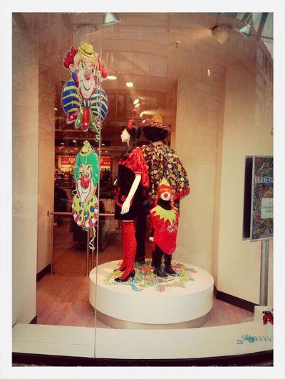 Hannover City Life Shop Window Clowns