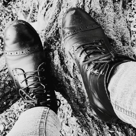 Beautiful Nature Capture The Moment Nature Photography Forrest Beautiful Nature Tree Climbing Climbing Trees Shoes Fashion Leather Leatherboots Boots High Angle View
