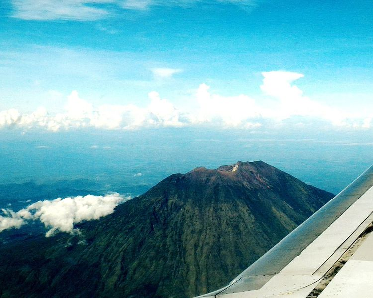 Cloud - Sky Mountain No People Nature Outdoors Airplane Window View Sky Mountain Peak Mount Agung INDONESIA