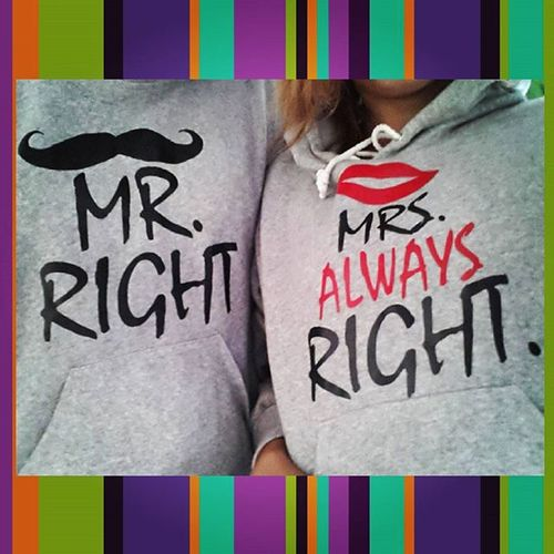 Mr Right and Mrs always Right Hubbyandwifey Abugandbugal Togetheragain