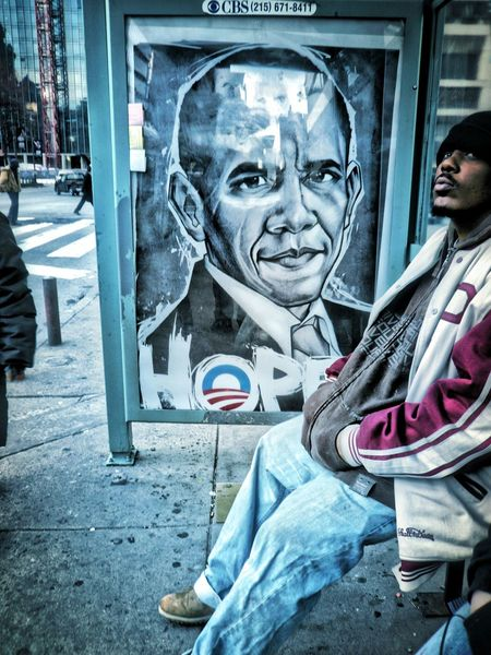 Busstop in Philadelphia People Photography Street Photography Portrait Of America Advertising Hope Democrat United Statesuni Election Obama President
