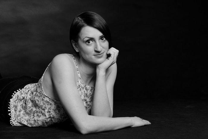 Blackandwhite Casual Clothing Cute Leisure Activity Lifestyles Monochrome Portrait Portrait Of A Woman