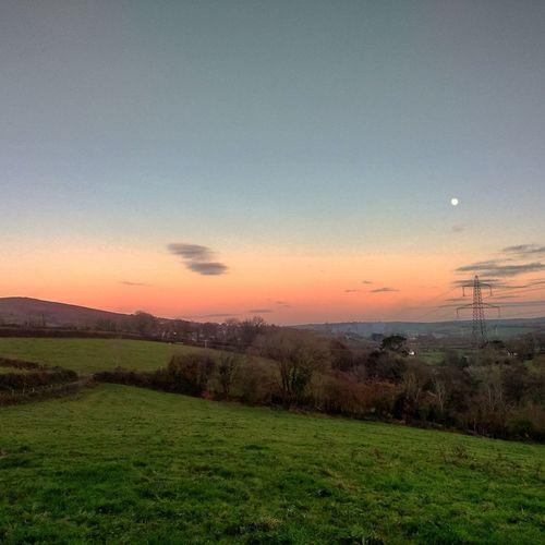Moon out at sunset Sunset_collection Landscape_Collection Devon Landscape