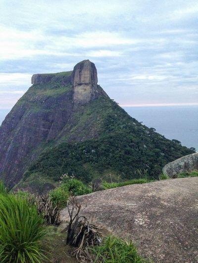 Pedra Da Gávea vista da Pedra Bonita Rio De Janeiro Floresta Da Tijuca Rio Brasil Brazil
