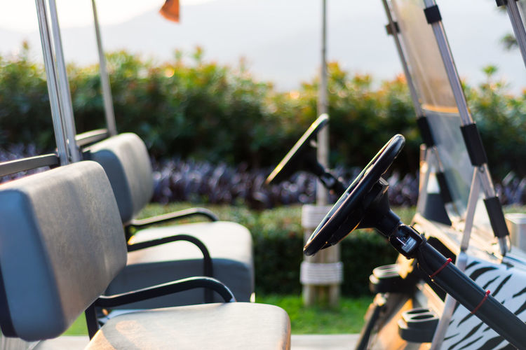 Close-Up Of Golf Cart