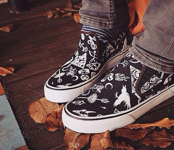 Slipon Shoes Sneackers Print