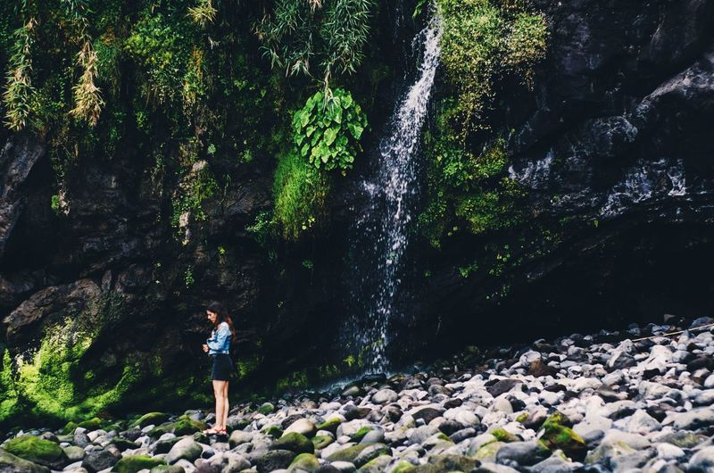 Tropical Climate Tropical Islands Nature Island Outdoor Photography Woman Sad Lonely Green Green Color Waterfall