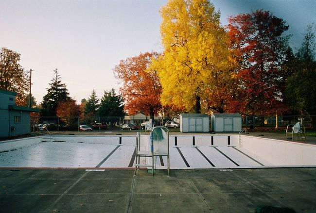 Autumnal Pool Taking Photos Enjoying Life Check This Out Believeinfilm Film Photography Film Filmisnotdead Abandoned Lonely Loneliness Empty Fall Beauty Fall Colors Fall Portland 35mm Oregon