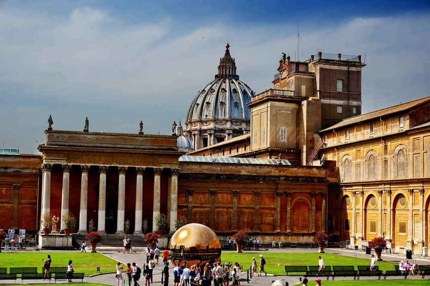 NEX-5T Rome VaticanCity Adult Architecture Building Exterior Built Structure Cloud - Sky Day Dome Grass History Leisure Activity Lifestyles Outdoors Sky Sony Tourism Travel Destinations