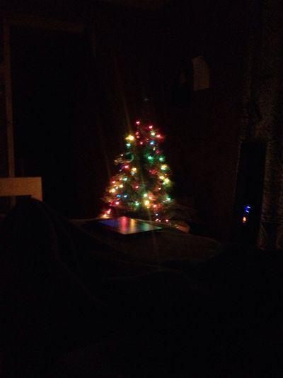 Christmas Tree Illuminated Night Celebration No People Christmas Ornament