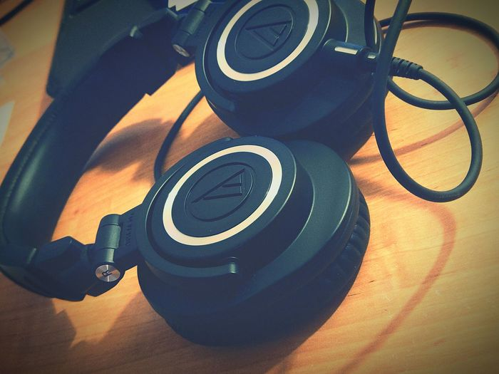 TakeoverMusic AudioTechnicaHeadphone Athm50x Simplyawesome Best  Pair Of Headphones No People When life makes you sad, buy yourself something new. It makes you happy. Life