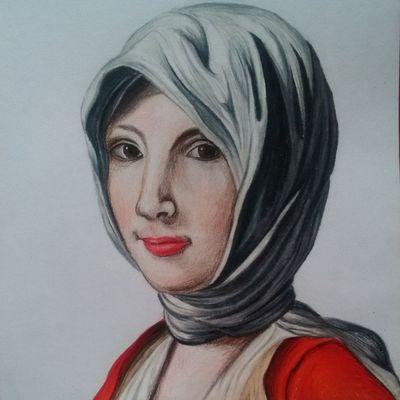 Una mas. Dibujo de Barroco Drawing Draw Prismacolor Art Sketchbook Mujer Colores Colours