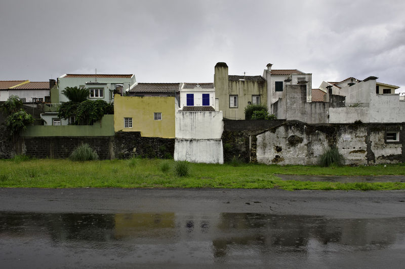 Ponta Delgada Sao Miguel Building Exterior Built Structure Architecture Building Sky No People Rain Rainy Days Rainy Badweather Açores Portugal City Architecture