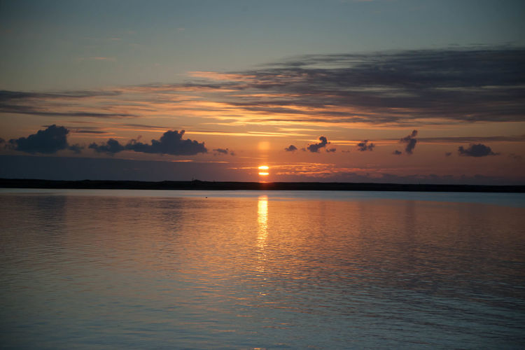 Sunrise at the Point At Atlantic Beauty In Nature M Nature Orange Color Reflection Scenics Sea Sky Sun Sunset Tranquility Water