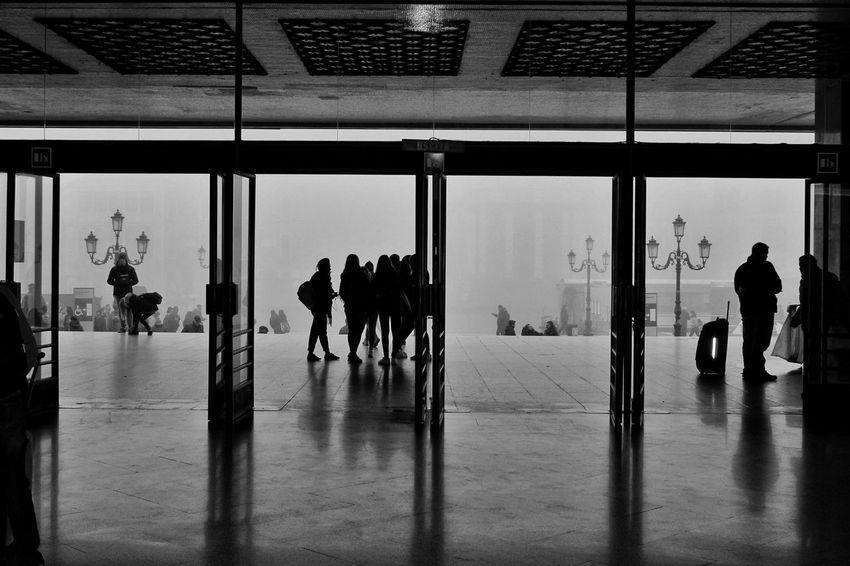 Streetphotography Street Fog Blackandwhite Black And White Black & White Square Urban Lamp Politics And Government City Men Architecture