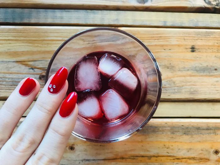 moments of happiness Foodphotography Ice Drink Red Nail Polish Human Hand Hand Human Body Part Finger Human Finger Nail Nail Polish Real People Body Part Indoors  Red Wood - Material My Best Photo