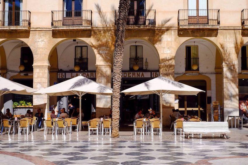 Cafe Cafe Time Plaça Life Shadows & Lights Sun Sun And Shadow Tiles Architecture Old Buildings España SPAIN Vilanova I La Geltru