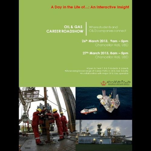 School Leavers! Are you Interested in a career in Oil & Gas? Come on down to UBD Chancellor Hall this weekend!