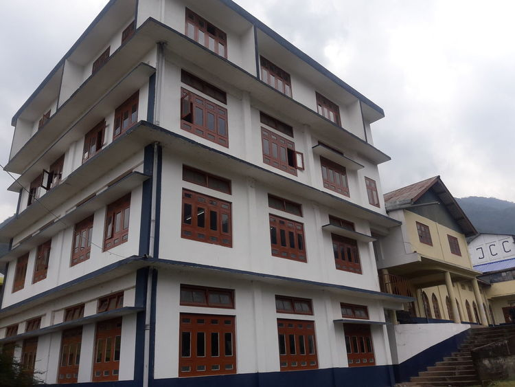Japfü Christian College. Kohima. Politics And Government City Apartment Residential Building Window Balcony Façade House Sky Architecture
