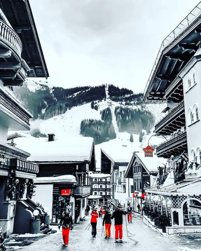 Saalbach Hinterglemm Travel Photography Travel IPhone X ShotOnIphone Black And White Bnw Mobilephotography IPhoneography Snow Building Exterior Architecture Winter Built Structure Outdoors Cold Temperature