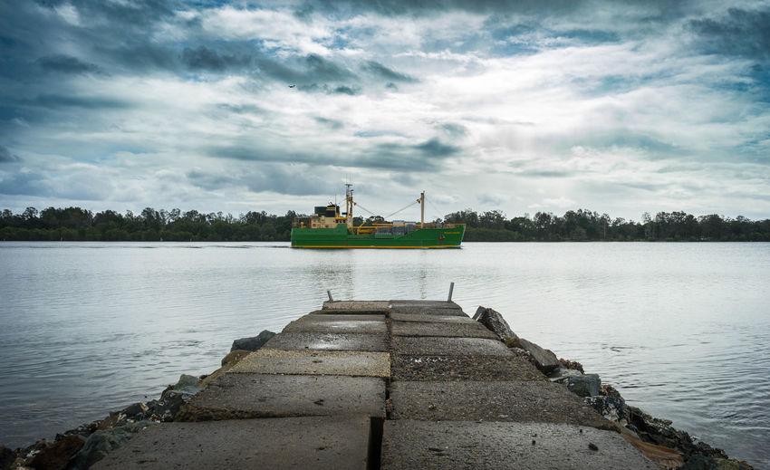 island trader Island Trader Island Portmacquarie Iloveportmacquarie Newsouthwales Midnorthcoast Australia Water Nautical Vessel Lake Tree Reflection Sky Landscape Cloud - Sky Trawler